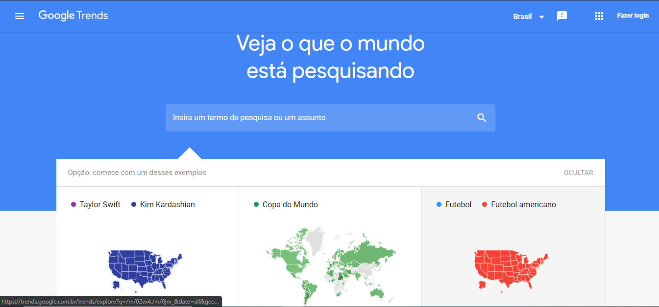 tendencias do google